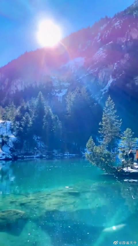 瑞士因特拉肯-伊斯特瓦尔德湖畔的仙境!