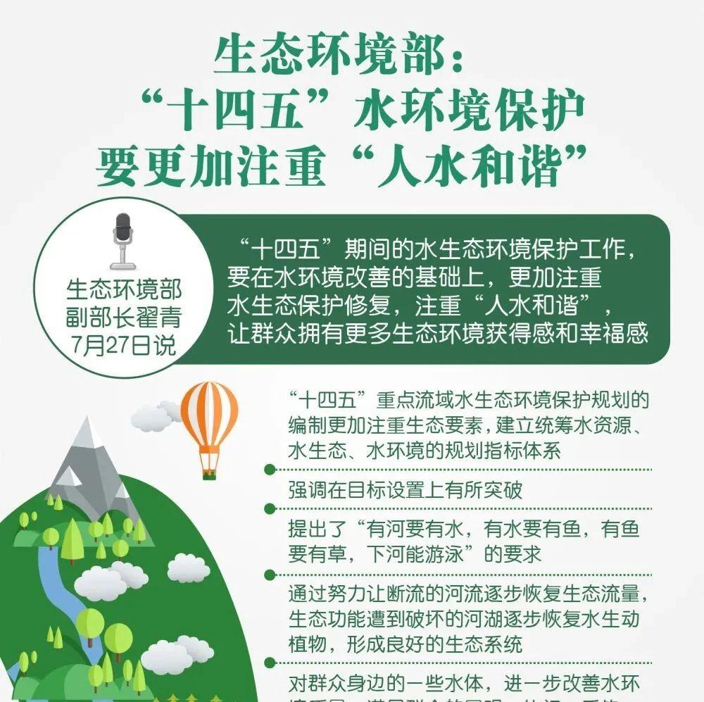 """生态环境部:""""十四五""""水环境保护要更加注重""""人水和谐"""" (新华社)"""