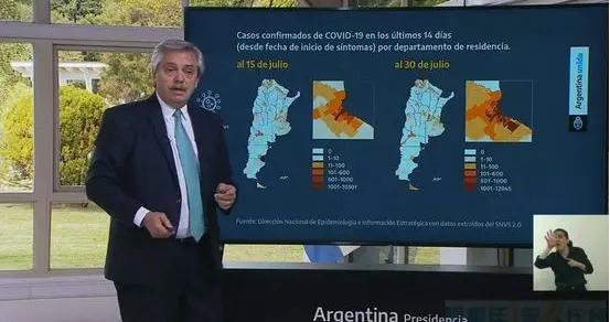 阿根廷总统用幻灯片讲述阿根廷疫情现状