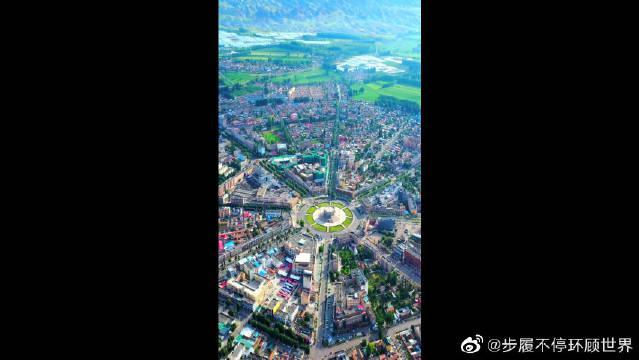 世界最完整太极八卦城!就在我们中国特克斯县。为我们中华文化……