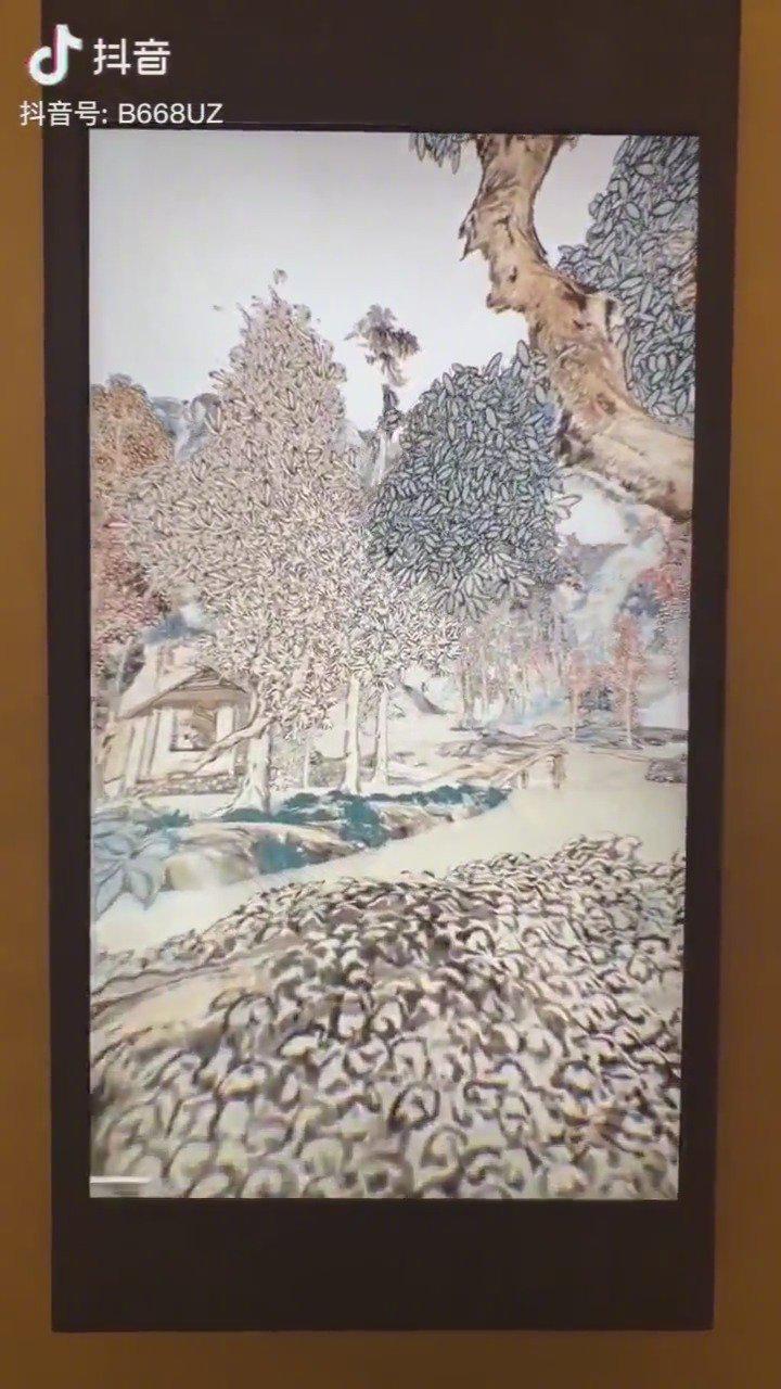 英国博物馆用3D技术还原一幅中国的水墨画……
