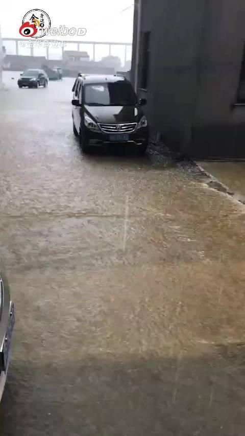 台风过境!义乌多个村子都满大水,村民齐心开展防护自救