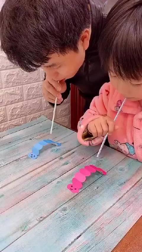 亲子游戏 亲子手工 小虫快跑! 手残党也能弄好的小玩具!