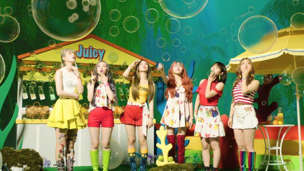 "Rocket Punch 迷你三辑主打""JUICY""MV公开 ❌禁止一切形式的控"