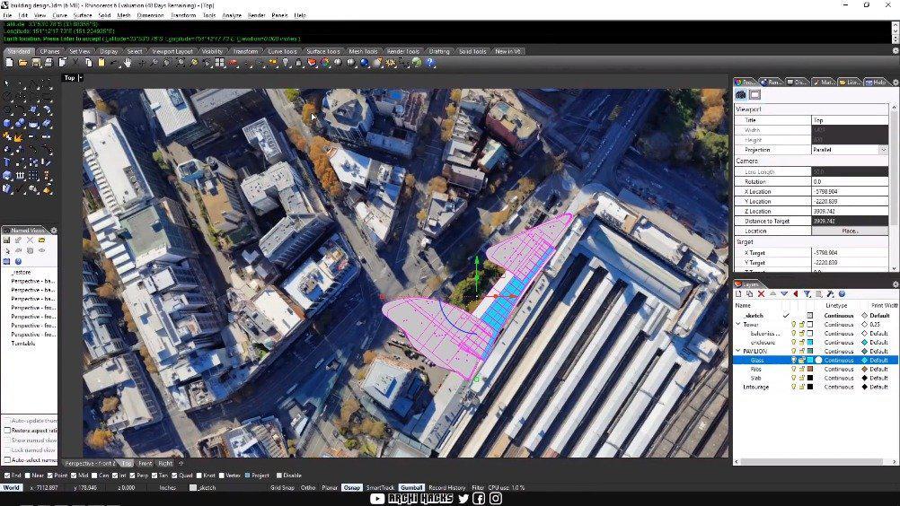 如何把你的Rhino模型放进Google Earth