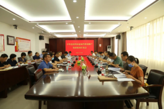河南省政法委涉黑恶财产处置督导组到郑州中牟县调研财产处置工作