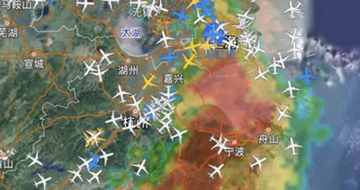 台风影响 虹桥机场进港航班受阻