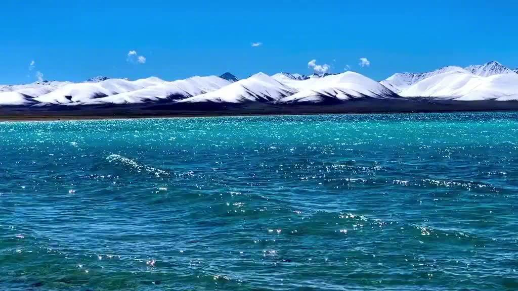 西藏纳木错高原圣湖🏔️🌊 一片来自海拔4718米的醉人蓝色💙
