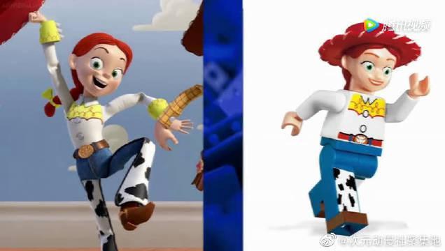 玩具总动员巴斯光年和胡迪,乐高玩具人仔VS电影版原型