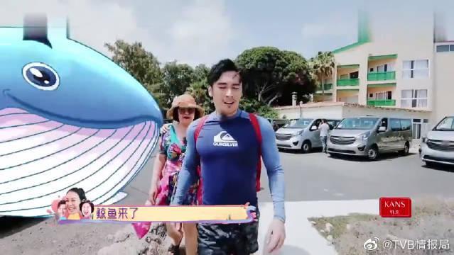钟丽缇调侃婆婆穿上自己的泳衣像鲸鱼?