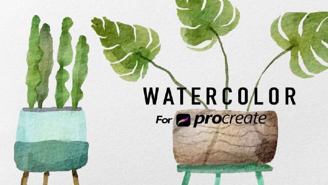 水彩画绿色植物绘制过程,这种质感好夏天吖!