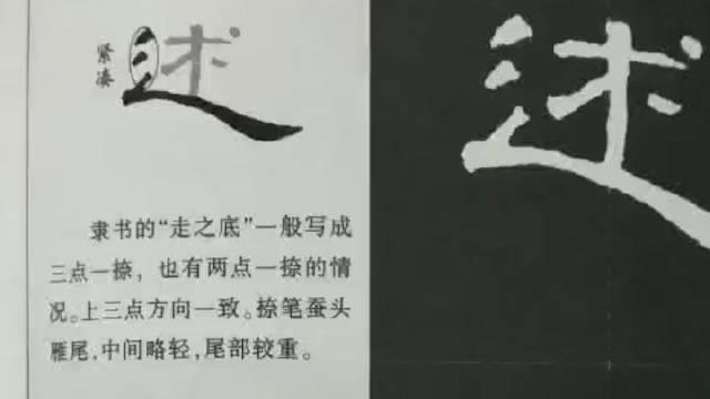 当代国画家徐鹤~《曹全碑》隶书字底书写教程