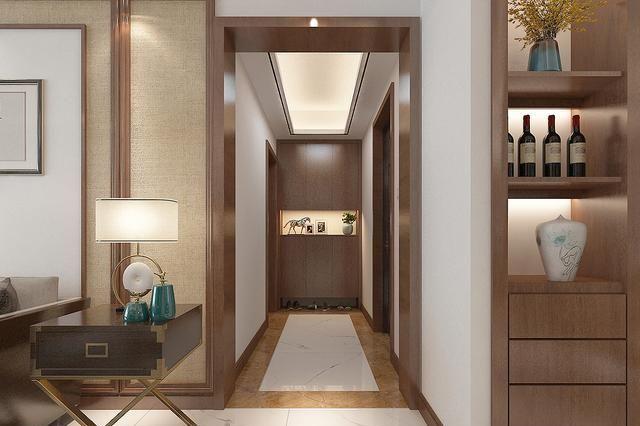 大学教授改造130平精装房,做新中式风格,客餐厅效果太有诗意