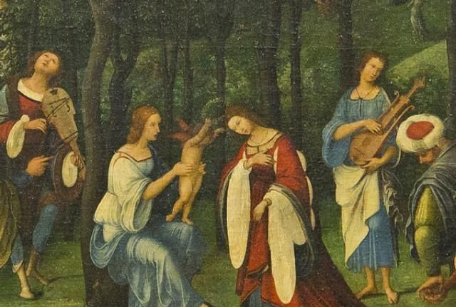 我拍摄的著名的卢浮宫画09佩鲁吉诺和《希腊神话系列》