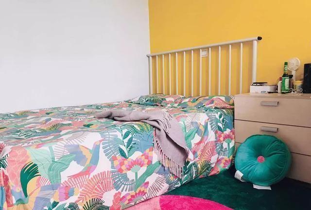 12平出租屋秒表小清新卧室,不到千元的初夏轻改造