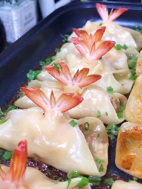 大虾锅贴饺子做法