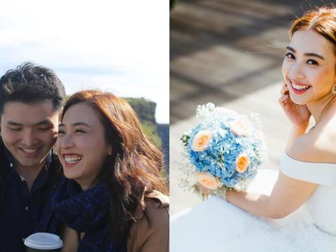 庆祝结婚1周年 朱千雪晒出唯美婚纱照