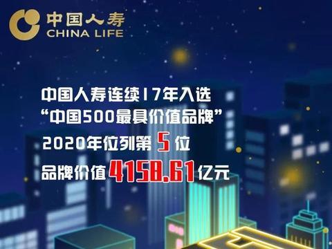 蝉联保险业第一!中国人寿品牌价值升至4158.61亿元