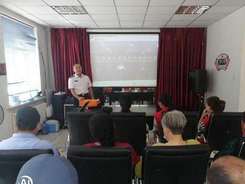 柳影街道宋家路社区组织居民进行消防安全教育活动