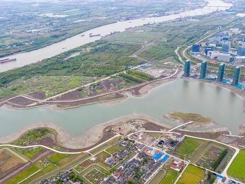 上海市闵行区的兰香湖并非小水池,未来有可能用水道连通黄浦江