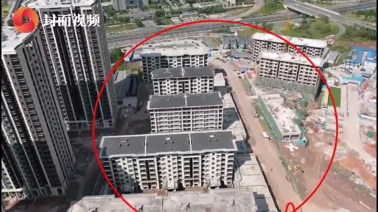 视频|地基沉降 重庆金科联发.东悦府10栋洋房推倒重建