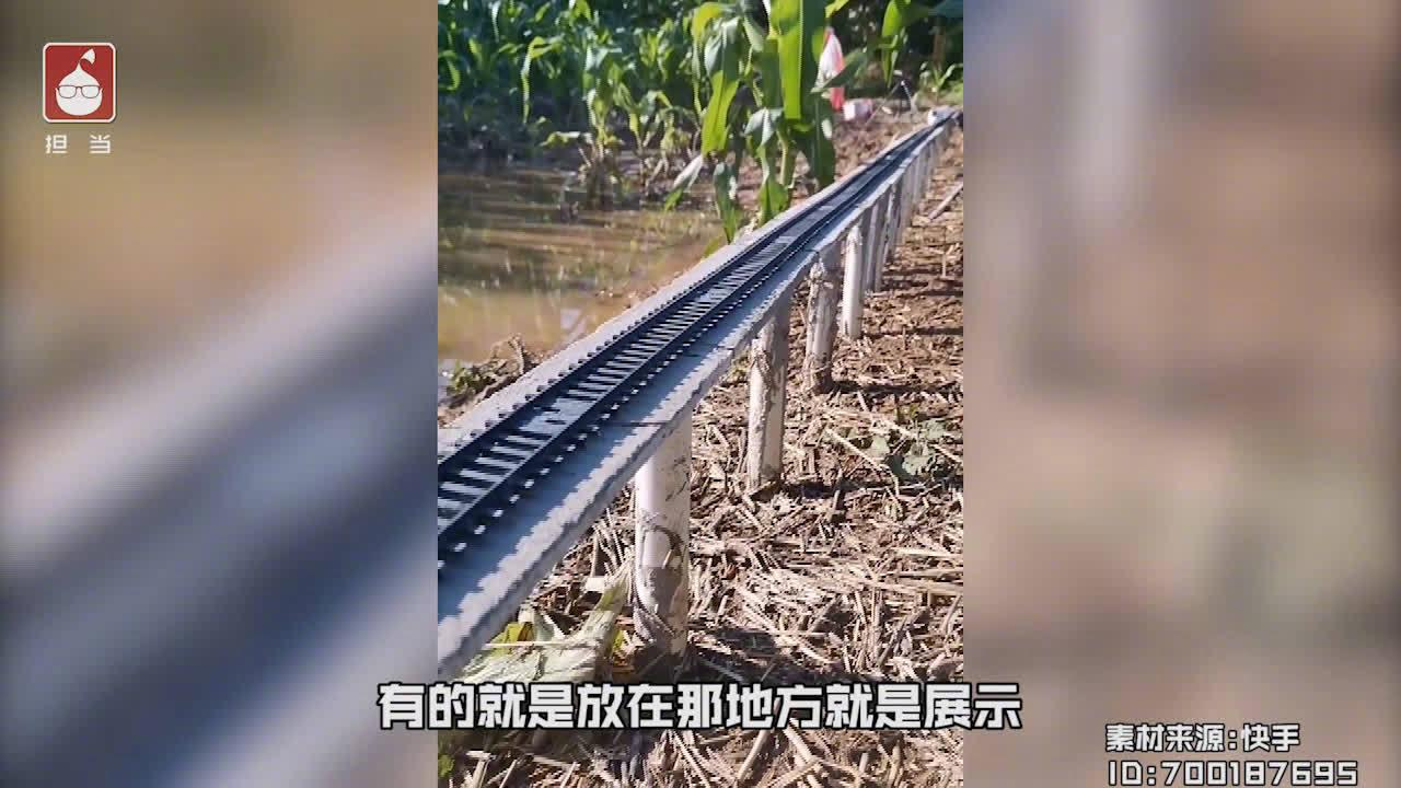 大学生手工制作高铁路线模型