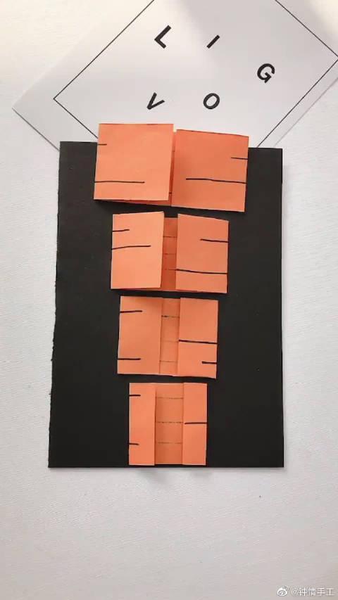 幼儿园创意折纸,绘画和卡纸萝卜的完美结合