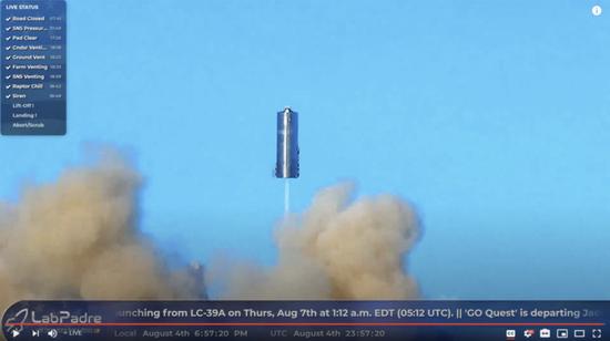惊天一跃!马斯克宇宙飞船首次起飞 火星移民梦想更近一步