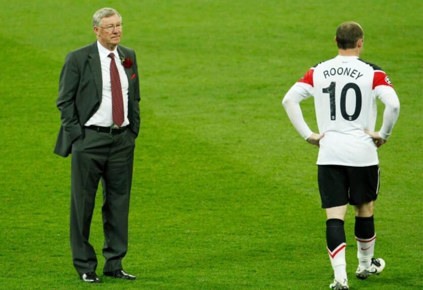 鲁尼批评弗爵决赛对攻巴萨是自杀!曼联如务实防卫,或可再夺欧冠