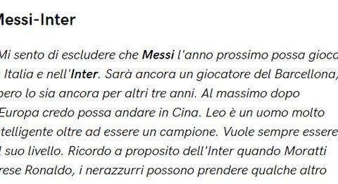 家门口看梅西踢球将成现实?巴萨前主席:梅西离开欧洲后或来中国
