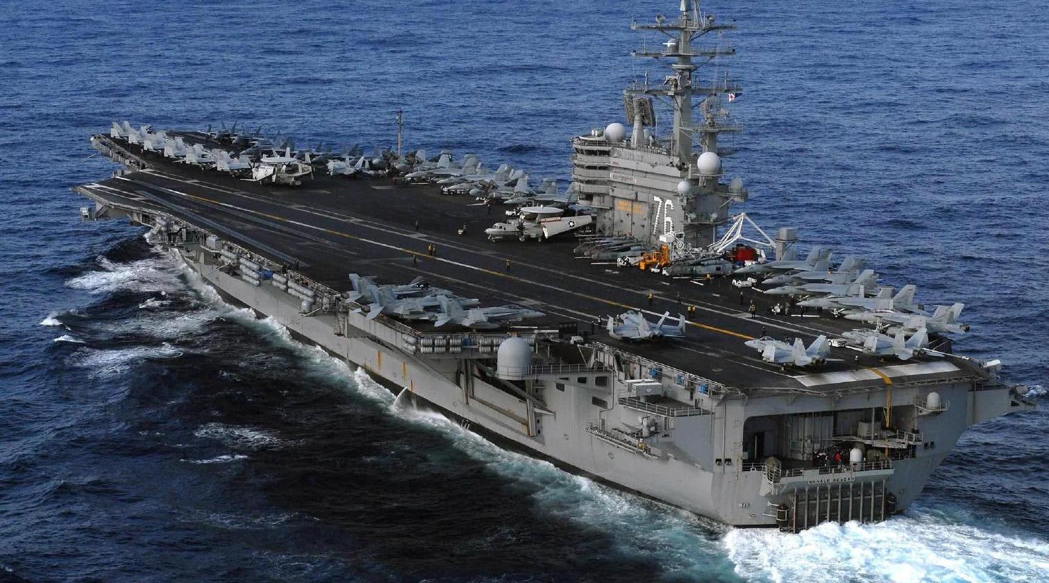 """""""里根""""号航母进入关岛,撤离东亚是迫不得已……"""