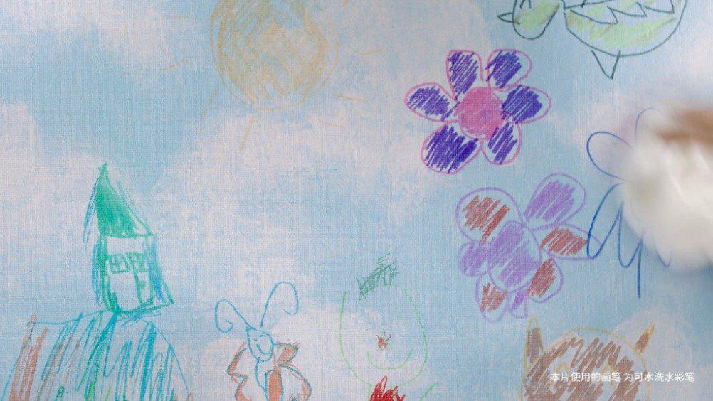 瑞宝可擦洗壁布——妈妈们的福音 让孩子释放天性,随心画