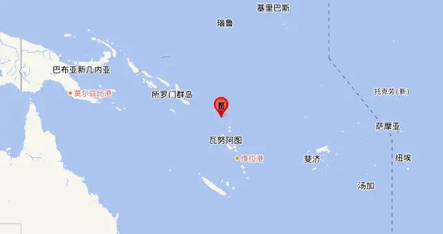 圣克鲁斯群岛发生5.7级地震