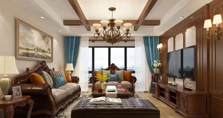 110平米的美式风格,原来三居室还可以这样装修!-国际城山水苑装修