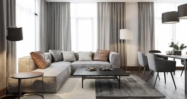 124平米的房子能装修成什么效果?简约风格三居室装修案例!-水榭花都装修