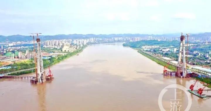 """两个桥塔混凝土用量相当于一个""""水立方""""!白居寺长江大桥主塔预计9月底封顶"""
