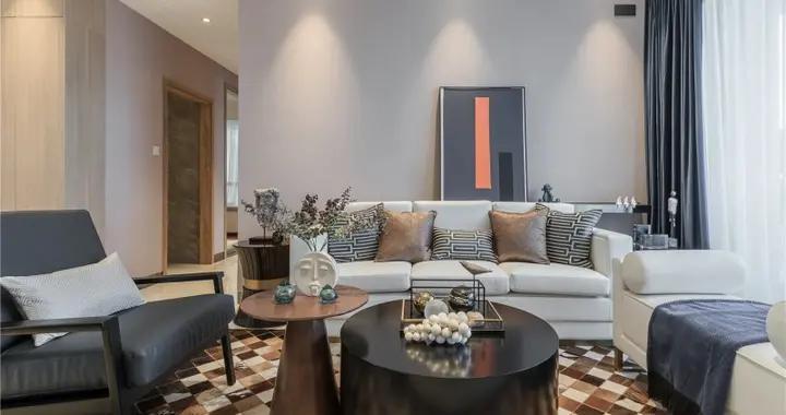 115平米房子现代风装修,融入各种经典装修元素,三居室美翻了!-银海畅园装修