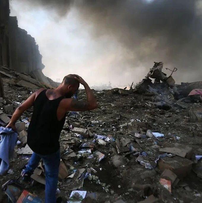 直击黎巴嫩首都爆炸现场:满目疮痍宛如世界末日