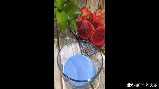 新甜点蓝色雪媚娘,Q弹有嚼劲,香甜软糯,包你越吃越想吃!