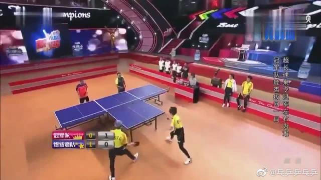 我是谁我在哪?乒乓球菜鸟来袭,王祖蓝被刘国梁一个发球整迷茫!