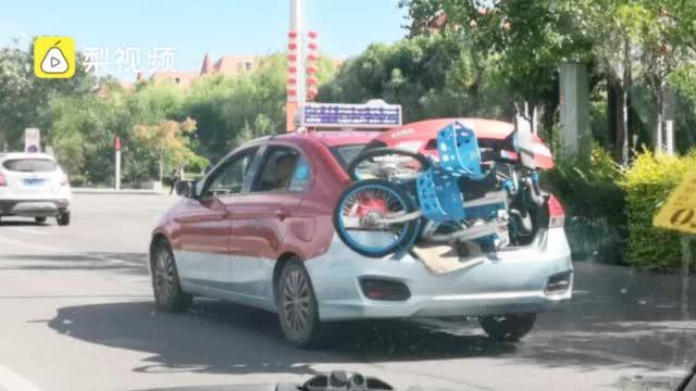 大量哈罗单车被出租拉到郊外,哈罗单车:影响了出租车生意