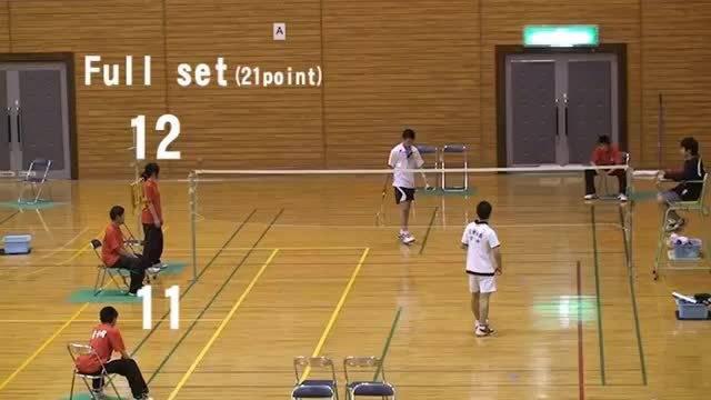 非常热血的日本初中生羽毛球比赛