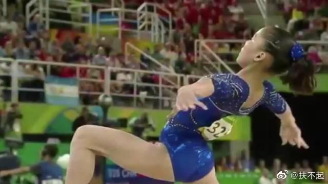 中国女子体操队,果然慢动作更能体现出体操小花的美~