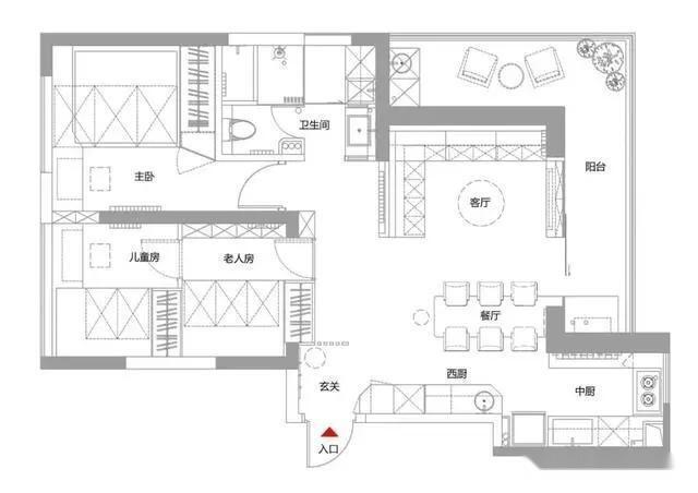 89㎡两室改三室,客厅不买沙发,舍弃电视墙,围合卡座超实用
