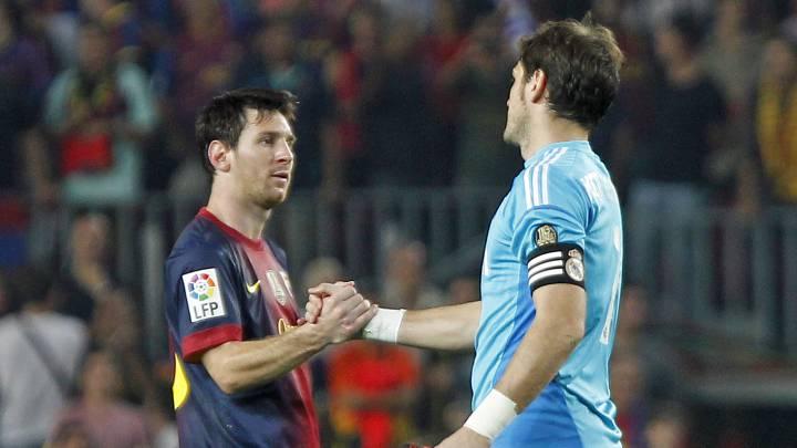 梅西和卡西利亚斯的赞赏是相互的,卡西利亚斯此前在接受采访时称赞梅西是自己见过的最佳前锋