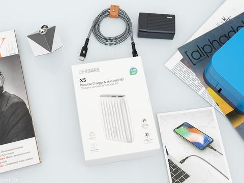 充电和USB HUB都是它:Zendure X5笔记本充电宝拓展坞体验
