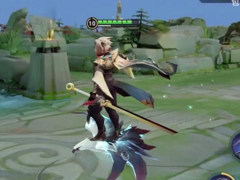 王者:云鹰飞将3D视角,飞行动作帅爆,技能炸裂,脸像奶油小生