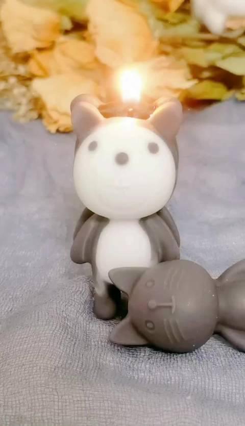 熊孩子香薰蜡烛😄憨憨小黑熊,可可耐耐