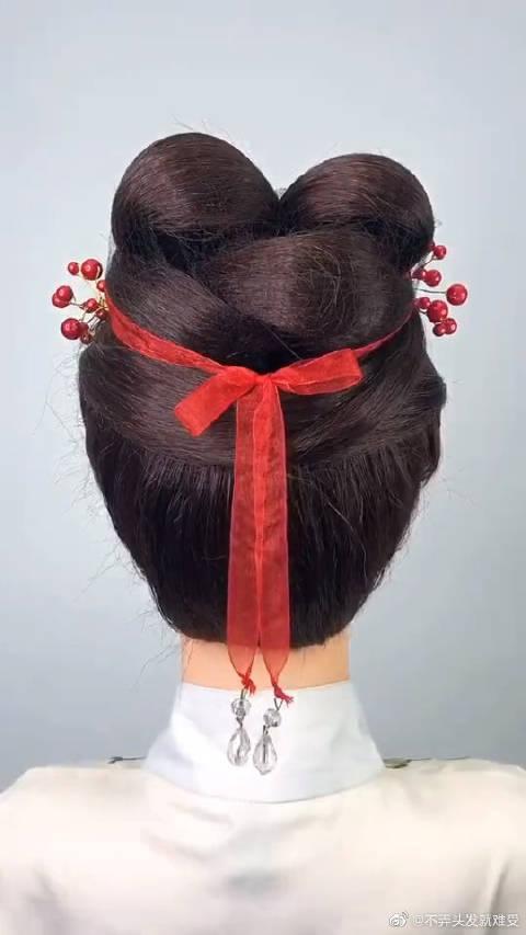 清平乐张贵妃同款发型,宋制发型简单易学,精致又好看
