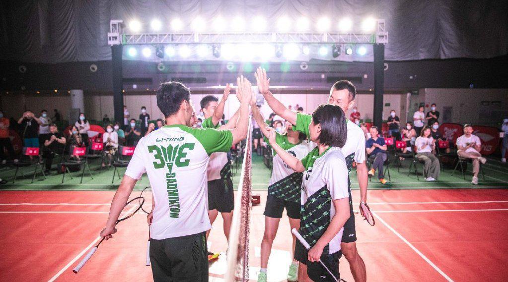 傅海峰单挑徐晨赵芸蕾汪鑫 2020道达尔李宁李永波杯3V3羽毛球赛新
